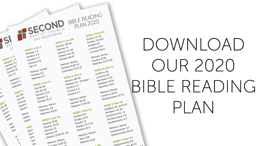 Download our 2020 Bible Reading Plan